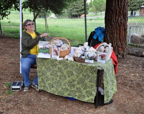 selling yarn at Patsy's