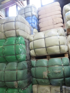 bales of washed wool