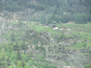 cabins on hill